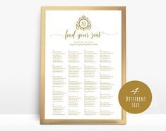 Gold Wedding seating chart printable seating chart Seating Seating Chart Template, Seating Charts, Seating Chart Wedding, Gold Wedding, Printable, Templates, Unique Jewelry, Handmade Gifts, Etsy