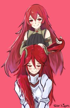 Severa and Cordelia :) would've also worked with Caeldori - Fire Emblem Awakening