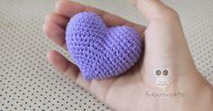fukuroucrafts: Crochet Heart, Pattern Crochet Heart, Free Pattern...