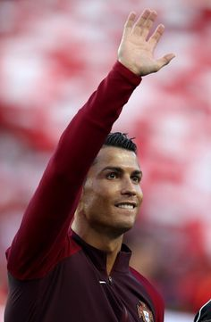 Cristiano Ronaldo before the game between Portugal - Austria. At the Parc des Princes stadiu m. On 18 June,2016.
