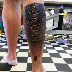 Small astronomy tattoos for women and men. See more ideas about Astronomy tattoo, Tattoos for women and Astrology tattoo. Cool Tattoos For Guys, Trendy Tattoos, Unique Tattoos, Calf Tattoo Men, Leg Tattoos, Moon Tattoos, Tattoo Thigh, Ankle Tattoo, Outer Space Tattoos