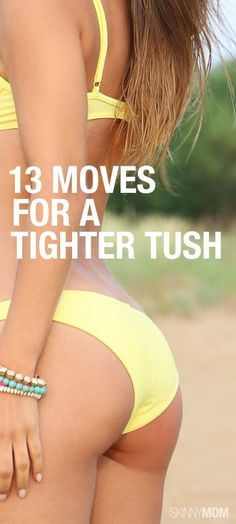 Saggy Booty be Gone! 13 Moves to Tighten Your Tush! By incorporating these 14 tush-tightening moves into your routine, after a few weeks, you'll be able to finally strut like you mean it! #tightenyoutbutt #saggybootyworkout #toneyourbuttworkout