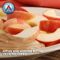 In need of new low-carb snack ideas? Apples and almond butter should satisfy you between meals.