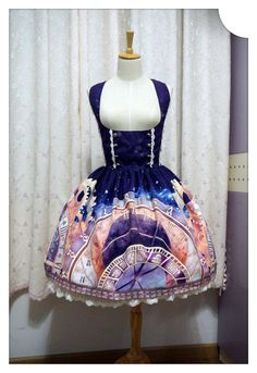 The Astronomical Clock in Prague ~ Skirt Style 2 [ClockSK-2] - $53.99 : Soufflesong,An Indie Lolita Fashion ,Gothic Vintage Brand