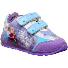 Frozen. Modelo: 8552. Tenis con diseño de Frozen, doble velcro y luces que encienden al caminar en la suela.