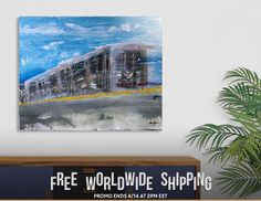 Discover «Moving A Train on NYC MTA Platform», Limited Edition Acrylic Glass Print by Alicia Jones - From $99 - Curioos