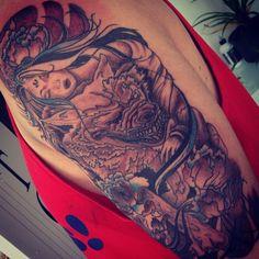 #wolfgirl #woflgirltattoo #wolf #wolftattoo #girl #girltattoo #arm #armtattoo #lotus #lotustattoo #flower #flowertattoo #colourtattoo #tattoo #tattoos #ink #jongu #tattooist #auckland #forevertattoos IG: @jongutattoo