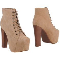 Jeffrey Campbell Ankle Boots ($131) ❤ liked on Polyvore featuring shoes, boots, ankle booties, sand, leather ankle boots, rubber sole boots, round toe boots, real leather boots and leather booties