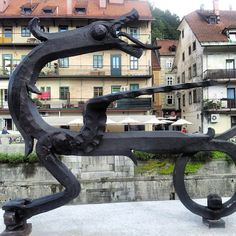 Dragon is the symbol of Ljubljana. We have dragons everywhere around the city.