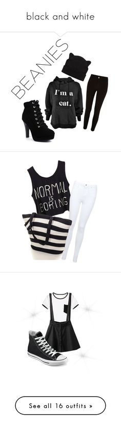 """""""black and white"""" by nature4ever on Polyvore featuring River Island, Miss Selfridge, Black, WithChic, Converse, Topshop, NIKE, Paige Denim, Zara and Accessorize"""