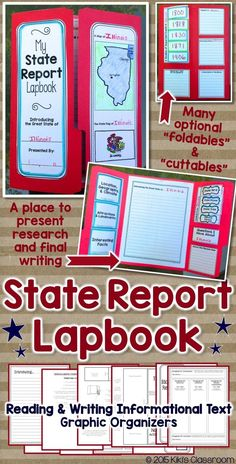 State Reports • Nonfiction Text • Informational Writing  ***SPRING 2016: This resource is now FREE!***