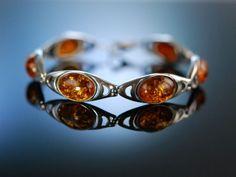 Vintage amber bracelet silver! Gold der Ostsee! Bernstein Armband Silber 925, Bernsteinschmuck bei Die Halsbandaffaire