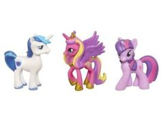 "My Little Pony Friendship is Magic ""Wedding Party"" Character Collection Set of figures including Prince Shining Armor, Princess Cadence, and Twilight Sparkle by Hasbro, 2013.  <3 #mylittlepony"
