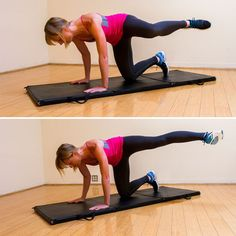 Toned Tush Workout: If you're trying to really redefine your bottom's shape, then you've got to work the deep glutes. These three exercises are all performed on the ground, and they're ideal for targeting the muscles you need to give your butt that lifted look. #exercise #glutes #butt