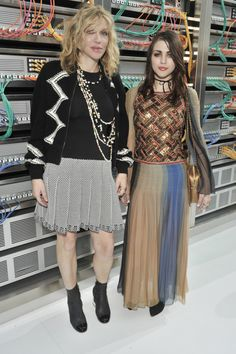 Celebrities Sitting Front Row at the Chanel Spring 2017 Show: Courtney Love and Frances Bean Cobain