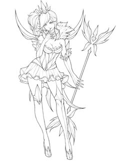 Fanart of Dark Elementalist Lux:) Adult Coloring Book Pages, Cute Coloring Pages, Printable Coloring Pages, Coloring Books, Desenhos League Of Legends, Fille Anime Cool, Character Art, Character Design, Anime Lineart