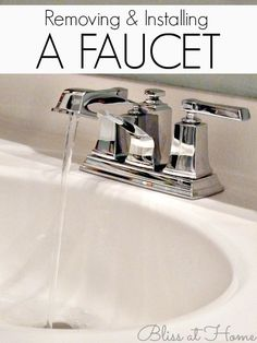 How to Install a Faucet | Faucet, Southern and Change