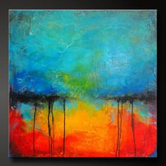 Oxidized Metal 12 - Acrylic Abstract Painting - 24 x 24 - Highly Textured - Contemporary Wall Art