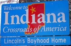 The sign everyone sees when entering indiana