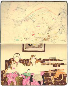 2011 sketch by Hollis Brown Thornton - permanent marker on papersketch by Hollis Brown Thornton - permanent marker on paper Sketchbook Inspiration, Art Sketchbook, Fashion Sketchbook, Illustrations, Illustration Art, Art Magique, Artist Journal, Journal Art, Kunst Online