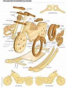 #1511 Rocking Motorcycle Plans - Children's Wooden Toy Plans and Projects