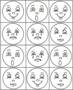 Emotions Preschool, Preschool Learning Activities, Autumn Activities, Classroom Activities, Social Emotional Activities, Emotion Faces, Stick Figure Drawing, Puzzle Crafts, Cute Doodle Art