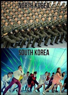 North Korea vs South Korea #lol