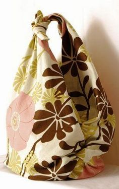 Fare una borsa senza cucire. Tecnica Furoshiki, very easy, eco chic.