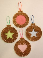 Find out how to make homemade Christmas decorations that are above average. These are Not Just Cookie-Cutter Ornaments. Check out these instructions to see how far felt and cookie-cutters will take you to designing excellent Christmas ornaments. Christmas Ornament Crafts, Christmas Sewing, Christmas Projects, Felt Crafts, Christmas Tree Ornaments, Holiday Crafts, Christmas Crafts, Christmas Decorations, Felt Ornaments Patterns