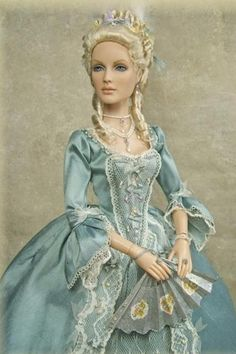 Custom Tonner doll as Marie Antoinette.