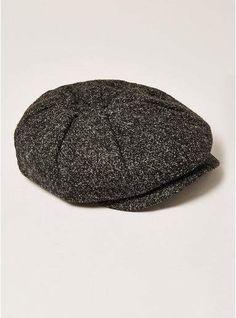 515997f13516e4 Topman Mens Grey Charcoal Salt and Pepper Baker Boy Hat Beard Hat