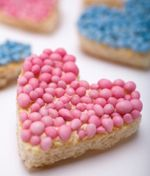 """It is a Dutch tradition, to serve pink or blue """"meijies"""" on bread or rusk....when you have a new baby!"""