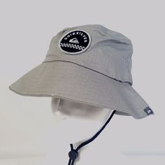 6321eaff7cc QUIKSILVER Boys Hiking Camping Outdoor Bucket Hat Grey 100% Cotton New NWT   Quiksilver