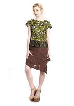 70s Boho Tee with Organza - on trend, ethical, sustainable,fair