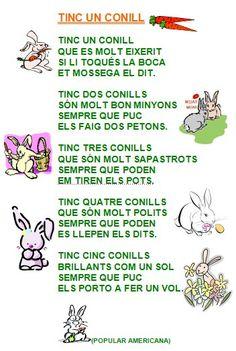 tinc un conill cançó - Cerca amb Google Journal, Words, Animals, Natural, Google, Kids Songs, Musica, Poems, Rabbits
