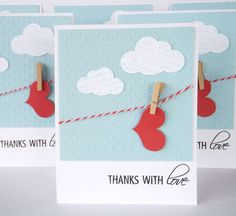 Card: thanks with love