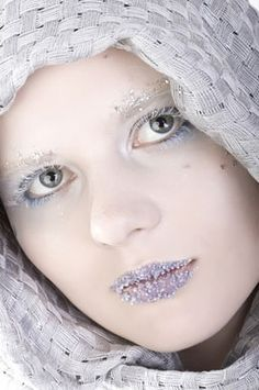 ice makeup | ... search terms girl icy icy makeup makeup portrait portrait scarf scarf