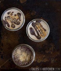 Banana toffee pots de creme, raw and healthy