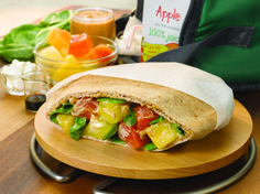 Fruity Thai Pita Pockets  #fruit #veggies #grains #protein #MyPlate #WhatsCooking