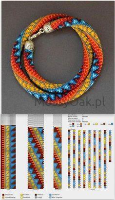 Afbeeldingsresultaat voor pinterest spiral bead crochet rope patterns