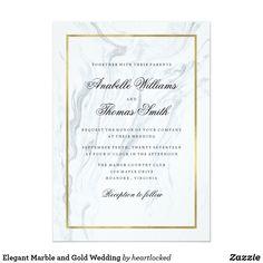 Elegant Marble and Gold Wedding