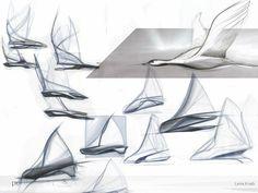 sketches of pure light car by Lena Knab Form Design, Sketch Design, Design Art, Modern Design, Concept Architecture, Architecture Design, Architecture Sketches, Sketch Inspiration, Design Inspiration