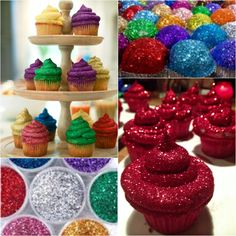 DIY Edible Glitter Frosting Cupcakes (Video), great cupcake decorating idea for wedding and celebration Frost Cupcakes, Glitter Frosting, Cupcake Frosting, Sparkle Cake, Cupcakes Decorados, Glitter Bomb, Silver Glitter, Edible Glitter, Cake Decorating Techniques