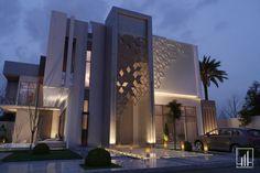واجهات معمارية (@wajehaat) / Twitter Best Modern House Design, Modern Villa Design, Classic House Design, Modern Exterior House Designs, Duplex House Design, Exterior Design, Residential Building Design, Home Building Design, House Outside Design