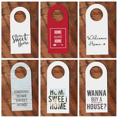"""We can think of a million ways to use these cute bottle neck tags! Here's a few ideas: - On water bottles at an open house - When you go to a party with a """"Wanna Buy a House"""" tag, everyone will know t"""