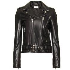 Leather Jacket ¦ Saint Laurent ∇ mytheresa