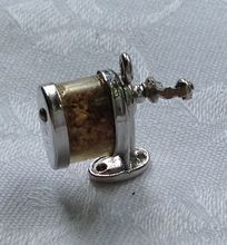 Vintage Sterling SIlver 3D Mechanical Pencil Sharpener Charm..