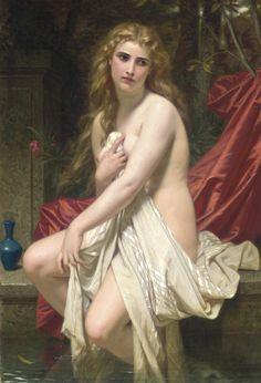 Hugues Merle (1823-1881) - Susannah at her Bath - 1874