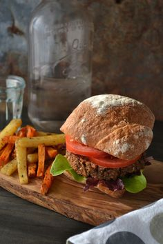 Delicious, healthy Mushroom-NUt Burger from the @jazzyvegetarian. Recipe on An Unrefined Vegan.