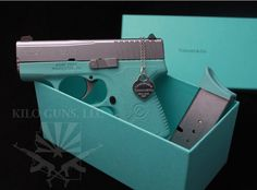 Tiffany and Co gun! @Periann Cantrell Cantrell Cantrell Crystal @Joleen Fuller Fuller Fuller Parks